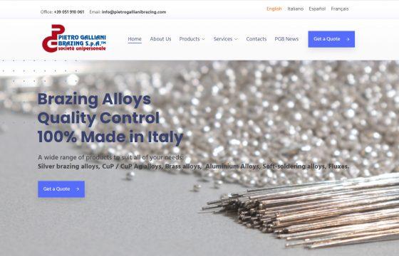 New multi language website for Pietro Galliani Brazing